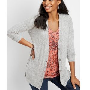 Maurices oversized grey grandpa cardigan